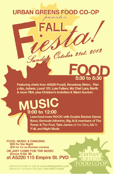 Urban Greens Fall Fiesta poster